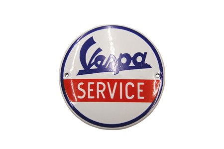 Emailleschild Vespa Service (d=50cm)