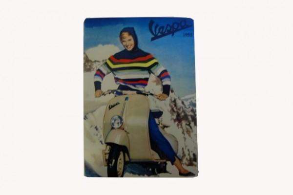 "Blech-Postkarte ""Vespa Winter"""