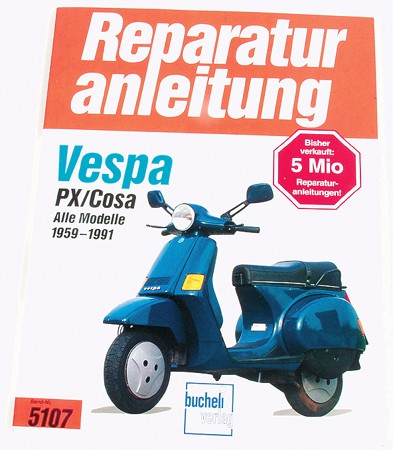 Buch Reparaturanleitung Vespa PX/Cosa
