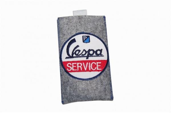 "Filz Handytasche grau ""Service"" IPhone 5"