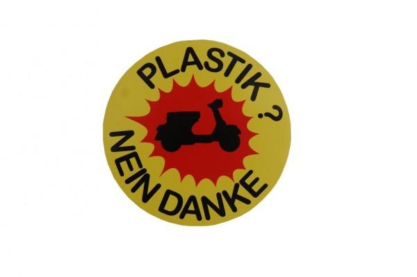 Aufkleber Plastik Nein Danke